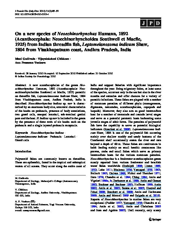 systema helminthum acanthocephala)