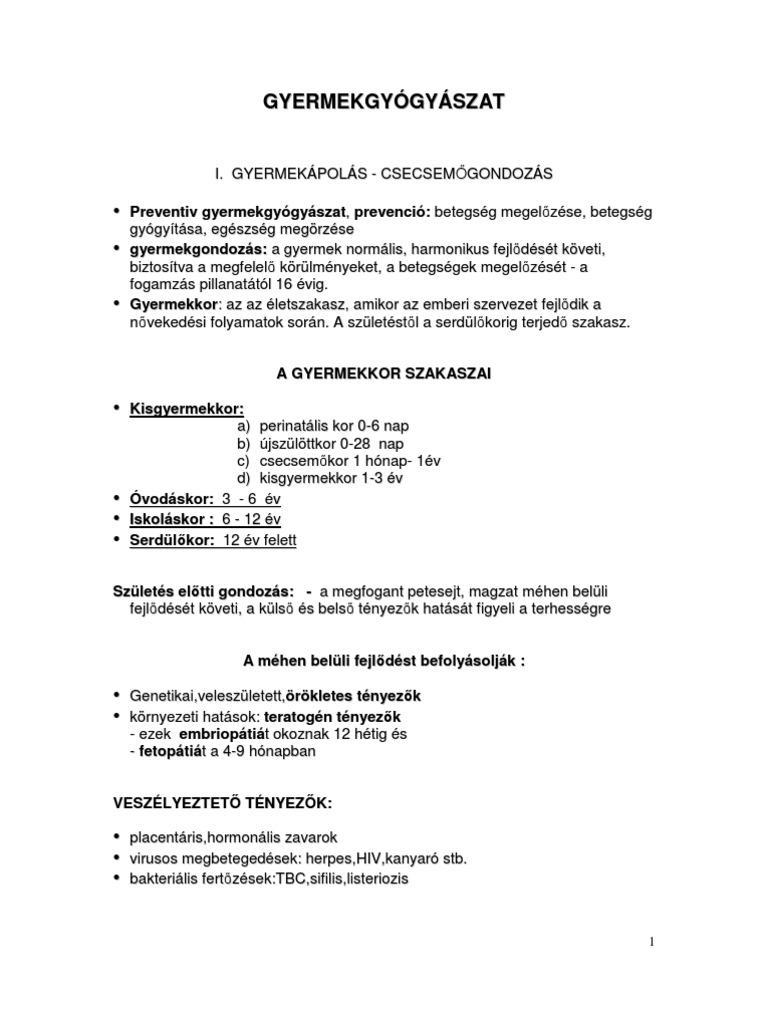 helminthiasis ápolás)