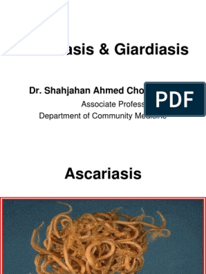 giardiasis ascariasis)