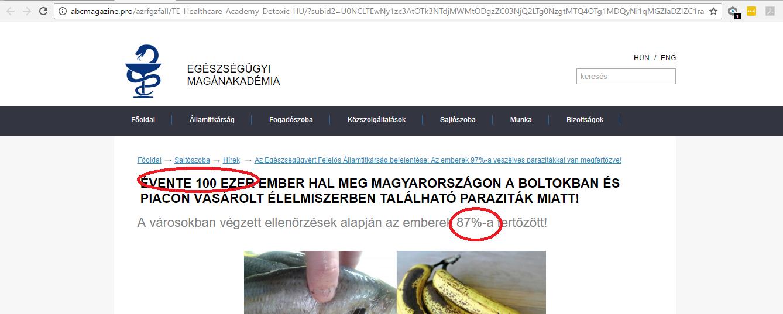 kormány paraziták az élelmiszerekben)