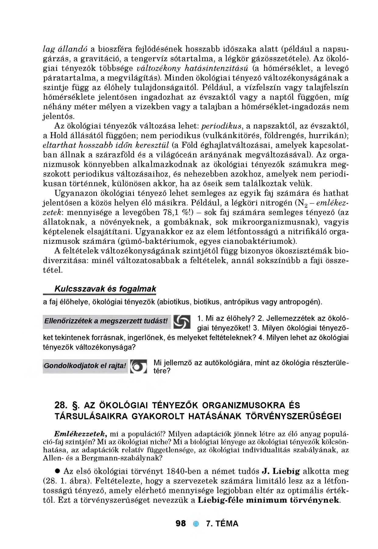 légköri gázösszetétel paraziták jelenléte levegő páratartalma)