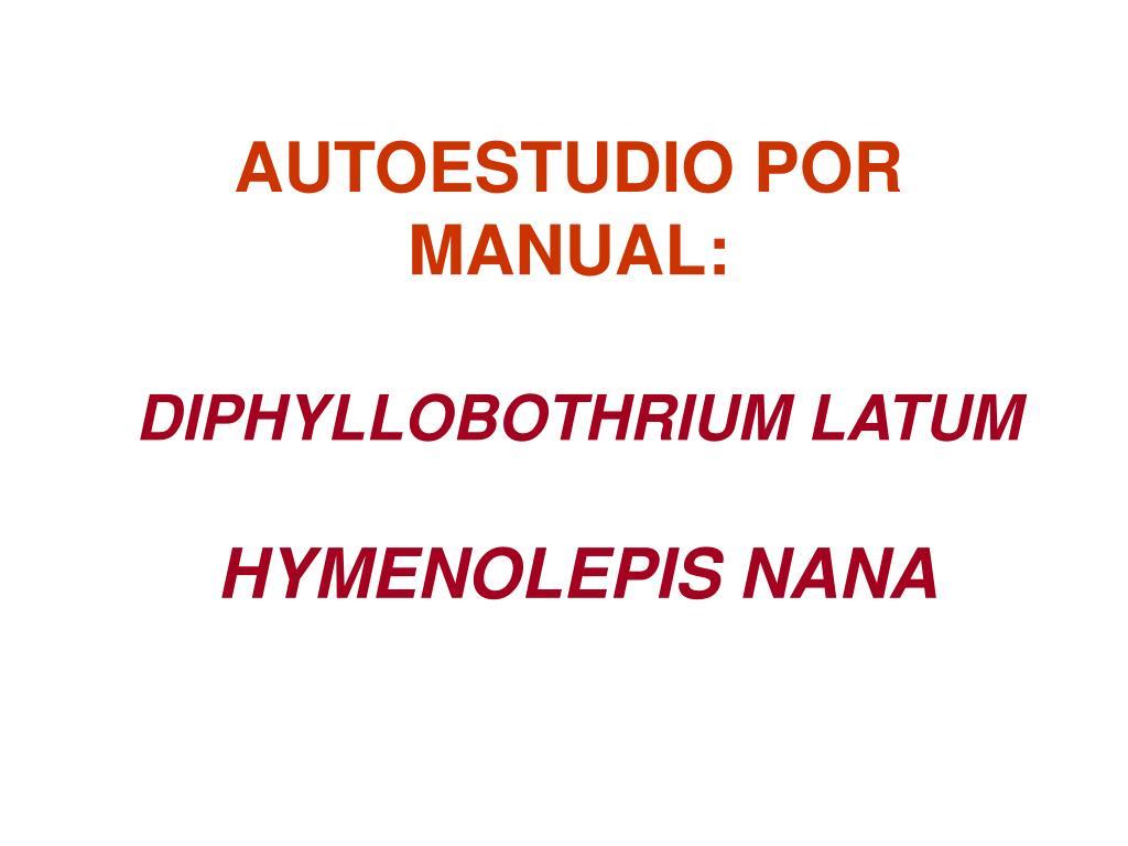 diphyllobothriasis képzési kézikönyv)