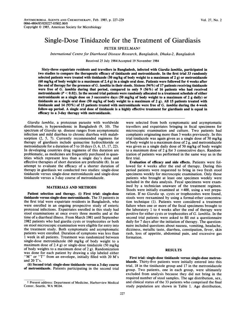 enterolia giardiasisban