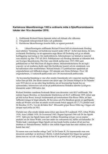 trichinosis protokoll)