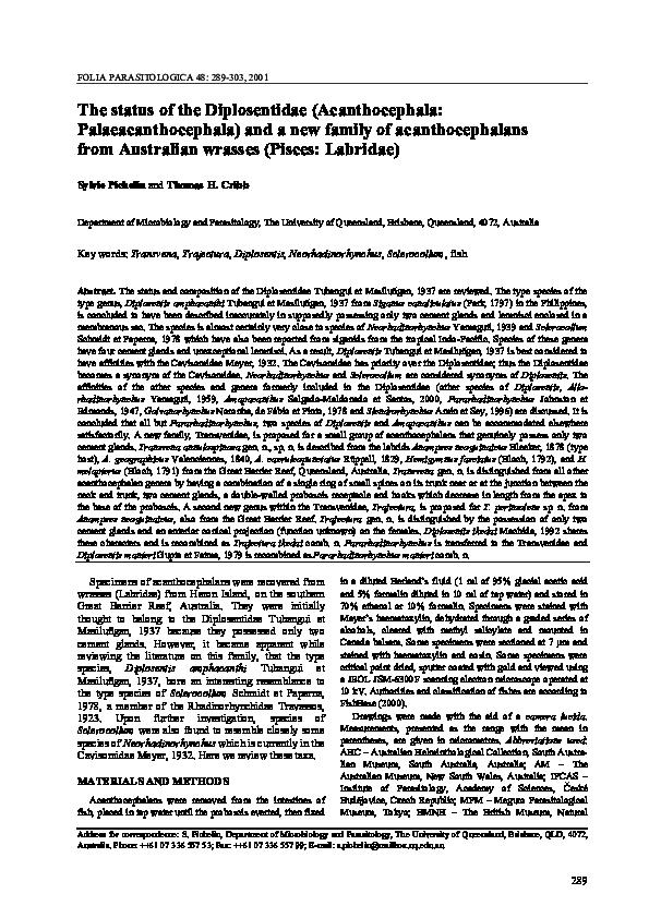 systema helminthum acanthocephala