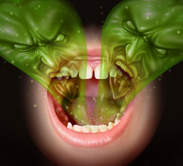 A nyelvét rossz lehelet borítja